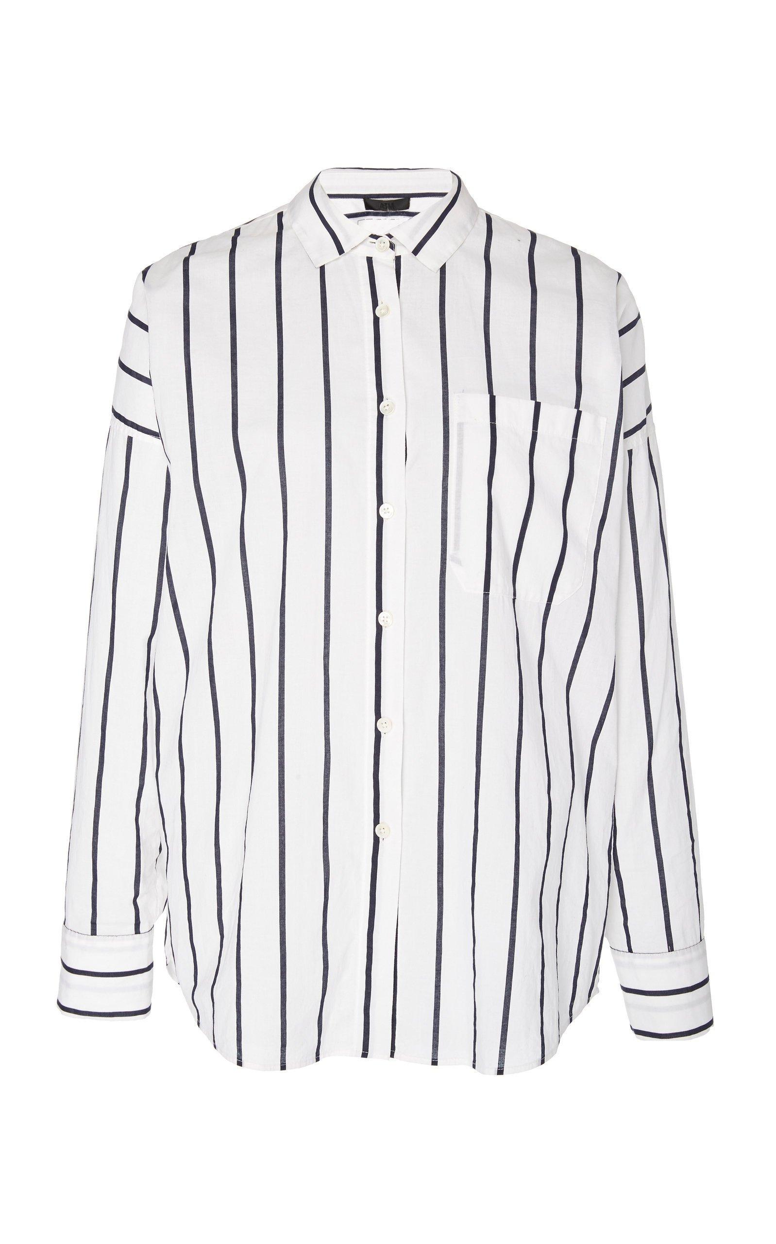 ATM Stripe Cotton Boyfriend Shirt