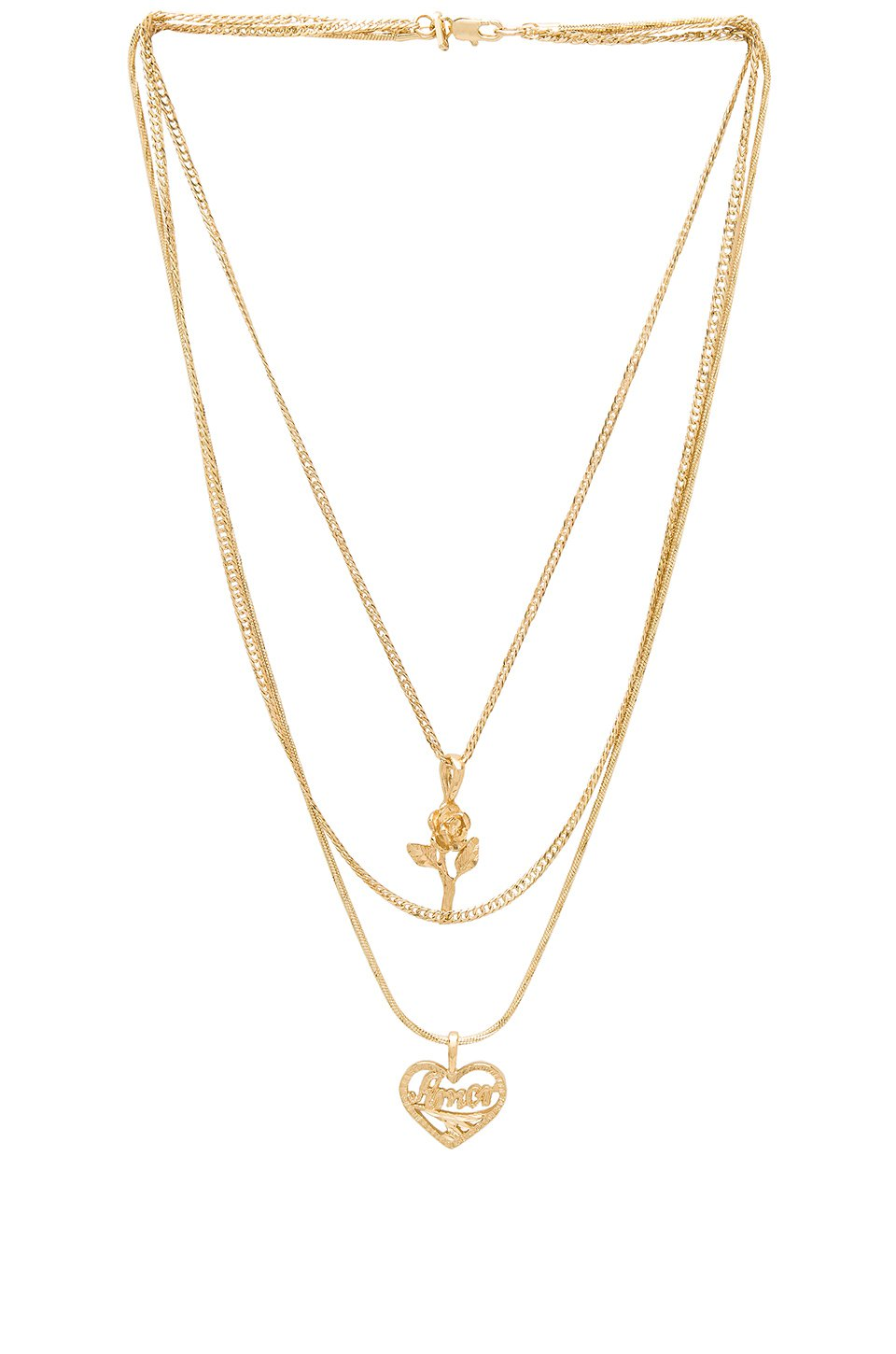 Cielo Rose & Amor Layered Necklace