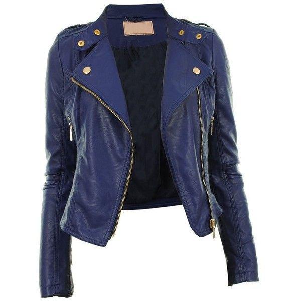 Dark Blue Leather Jacket