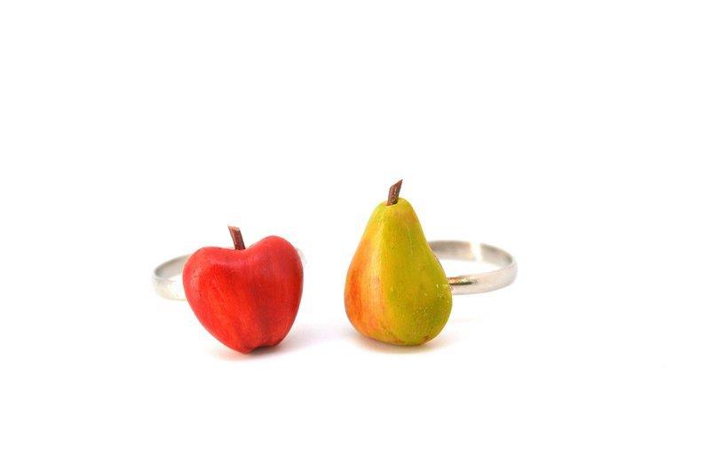 Anneau de pomme poire anneau de fruits anneau fruité | Etsy