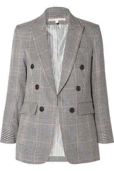 Veronica Beard | Bexley Dickey Prince of Wales checked linen and cotton-blend blazer | NET-A-PORTER.COM