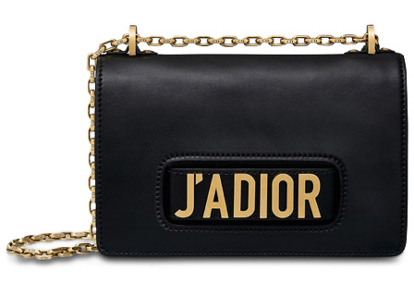 Dior J'aDior Shoulder Bag Calfskin Black