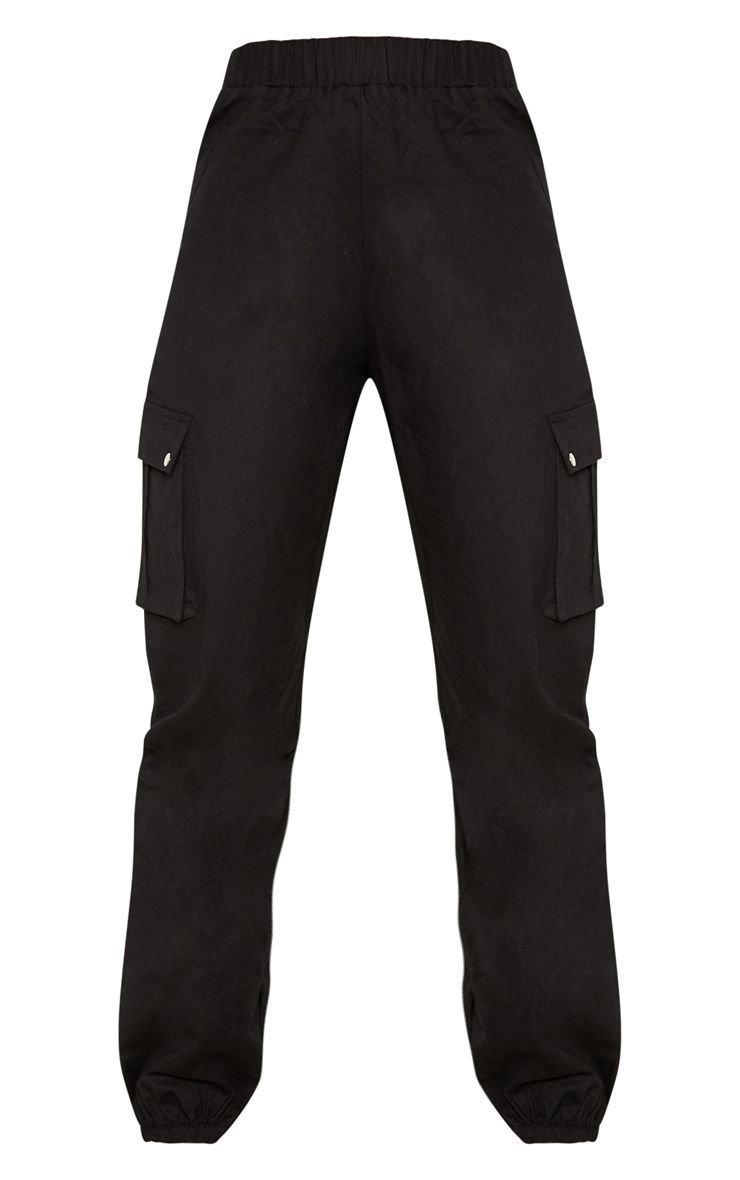 Black Pocket Detail Cargo Pants | PrettyLittleThing USA