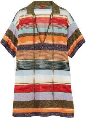Metallic Intarsia-knit Top