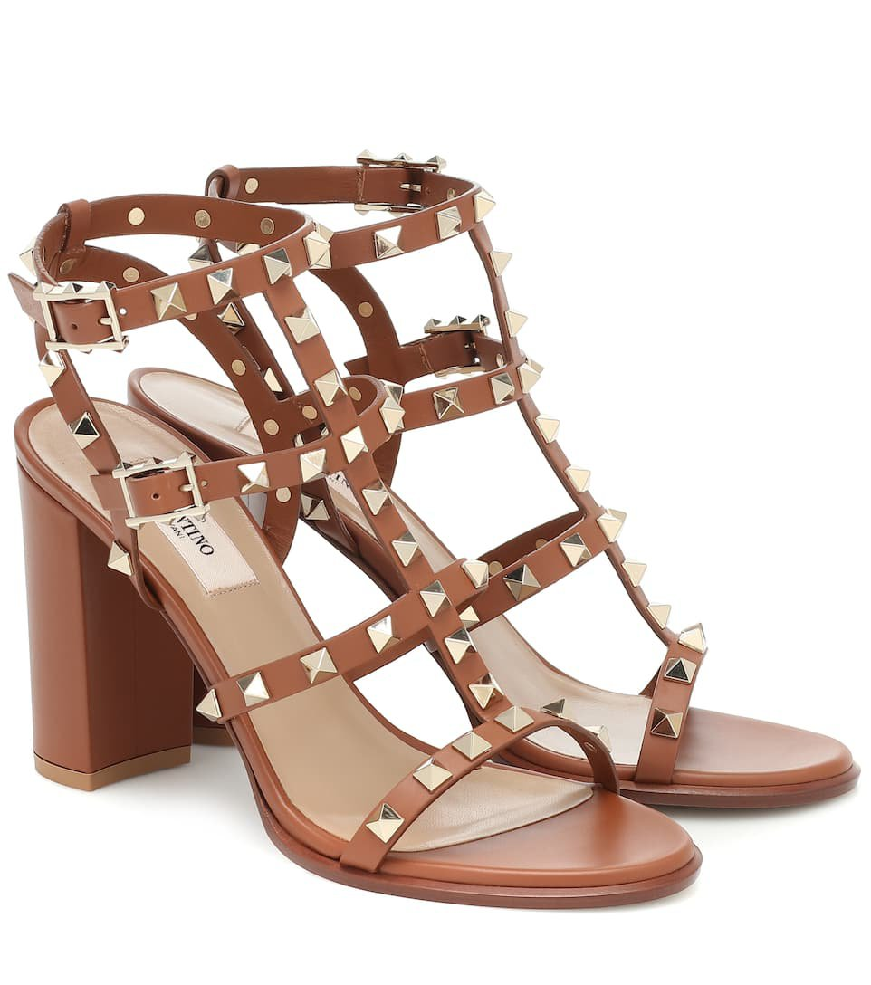 Rockstud Leather Sandals - Valentino | Mytheresa