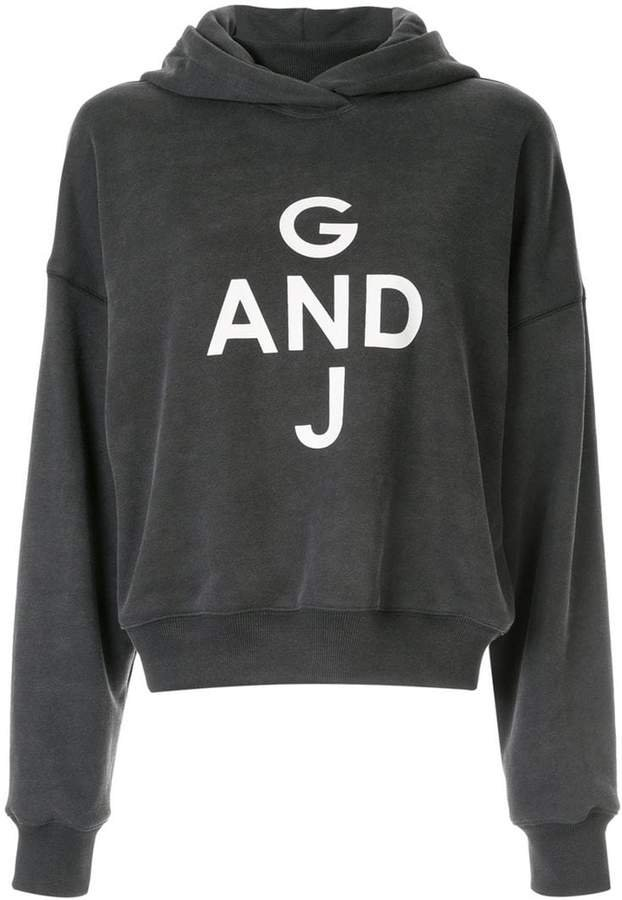 Goen.J print hooded sweatshirt