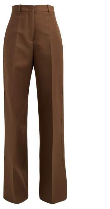 Gabriele Wide Leg Trousers - Womens - Dark Brown