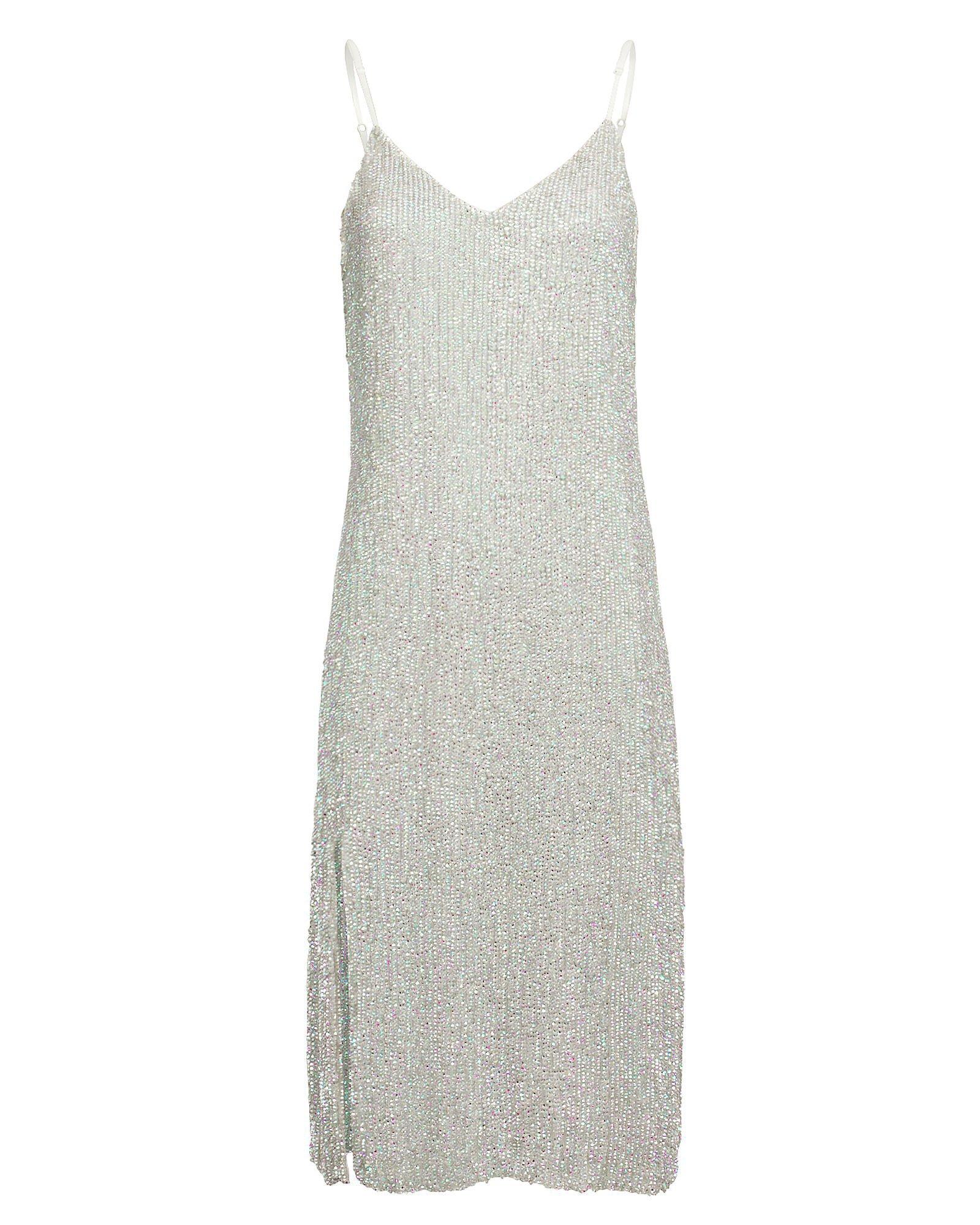 Denisa Metallic Slip Dress