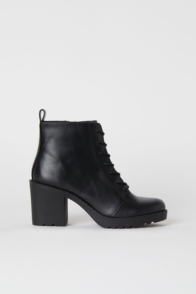 Lace-up boots - Black - | H&M