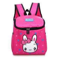 Crianças Crianças Canvas Rabbit Bear Cartoon Lovely Mochila Small School Bags - NewChic