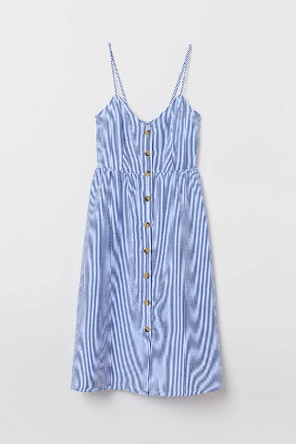 Dress with Buttons - Blue