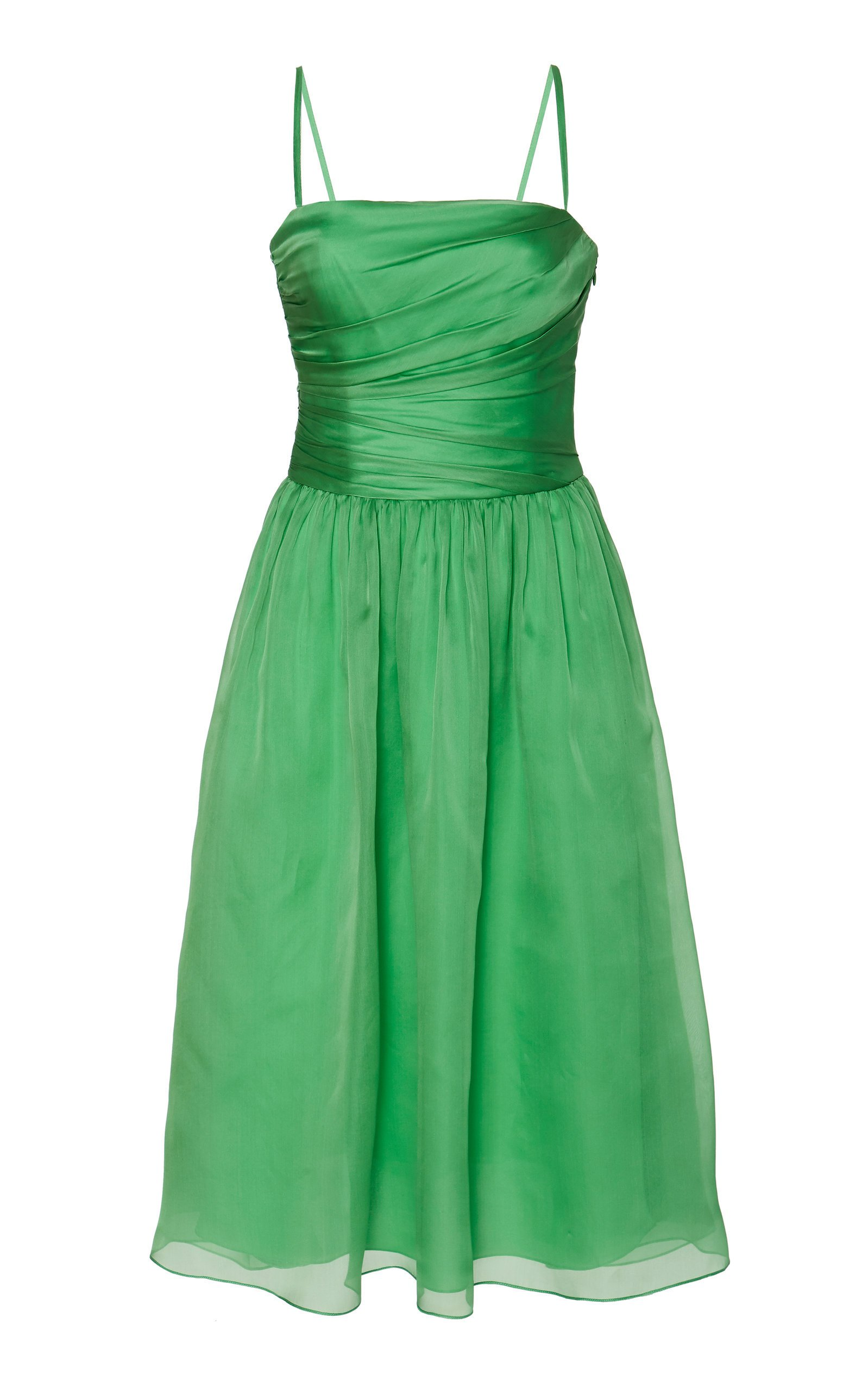 Ralph Lauren Annora Organza Fit-And-Flare Dress