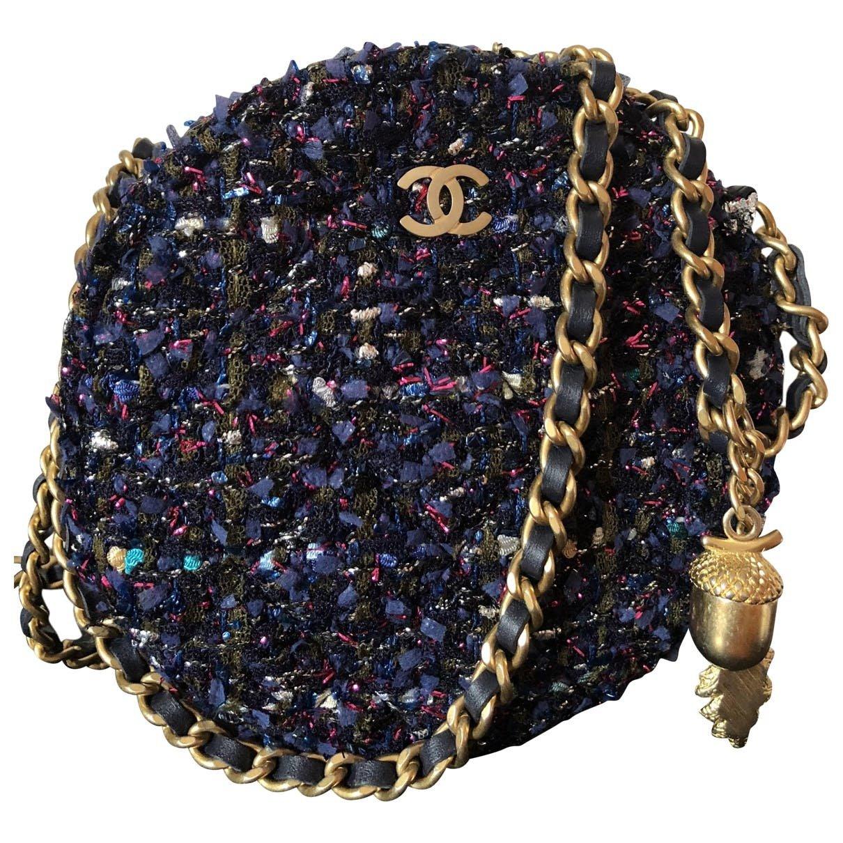 Tweed crossbody bag Chanel Blue in Tweed - 6417035
