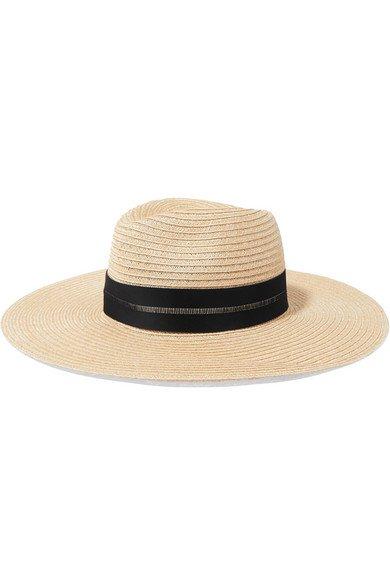 Eugenia Kim | Emmanuelle grosgrain-trimmed straw hat | NET-A-PORTER.COM