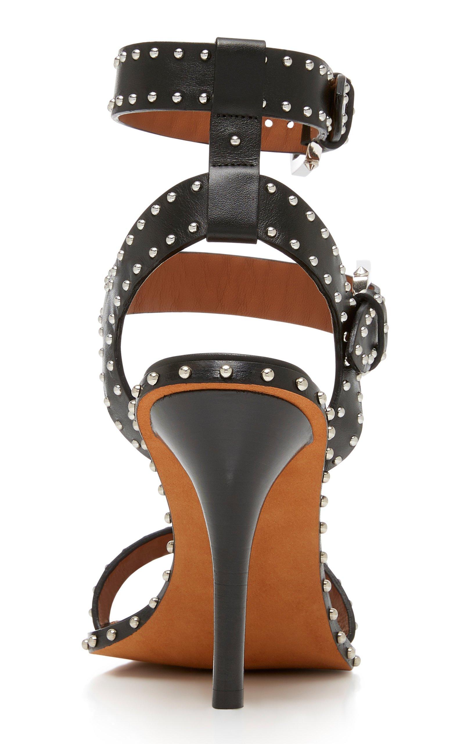 Studded Leather Sandals by Givenchy | Moda Operandi