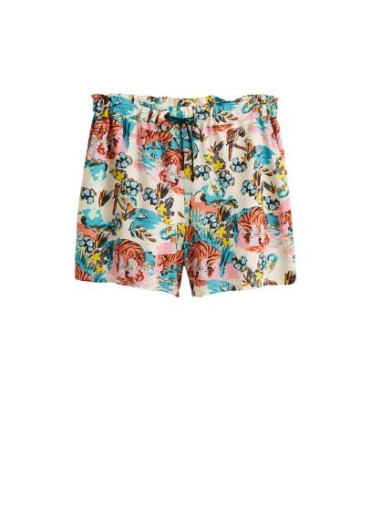 Violeta BY MANGO Tropical print shorts