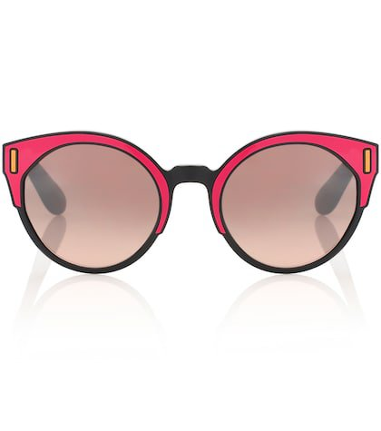Tapestry cat-eye sunglasses