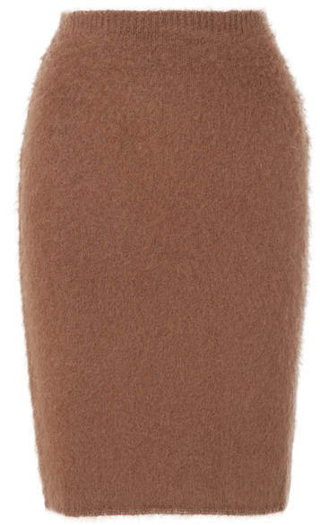Knitted Skirt - Brown
