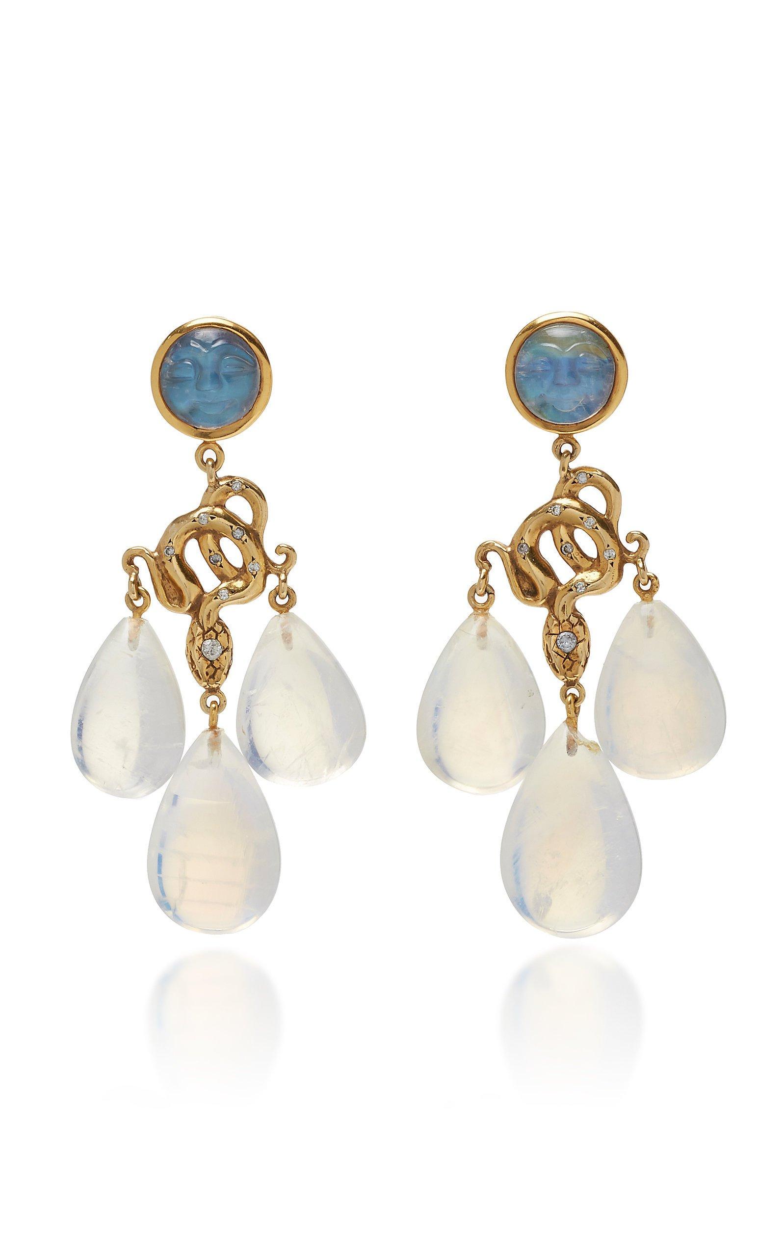 Sylvie Corbelin Blue Moon Chandelier Earrings