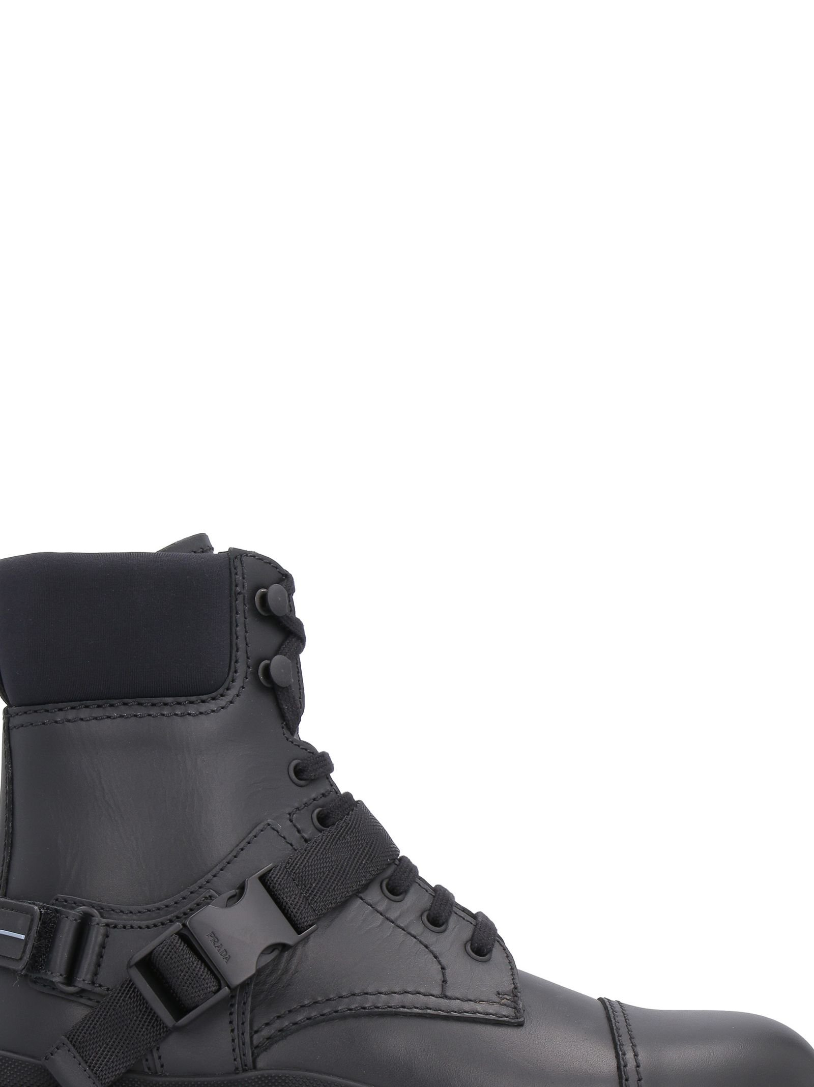 Prada Leather And Neoprene Boots