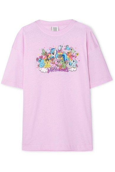 Vetements | Oversized printed cotton-jersey T-shirt | NET-A-PORTER.COM