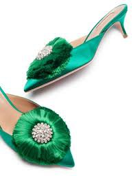 green satin mules - Google Search