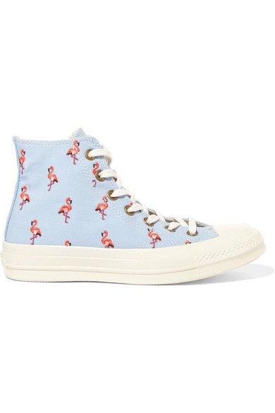 Converse | Chuck Taylor All Star 70 embroidered canvas high-top sneakers | NET-A-PORTER.COM