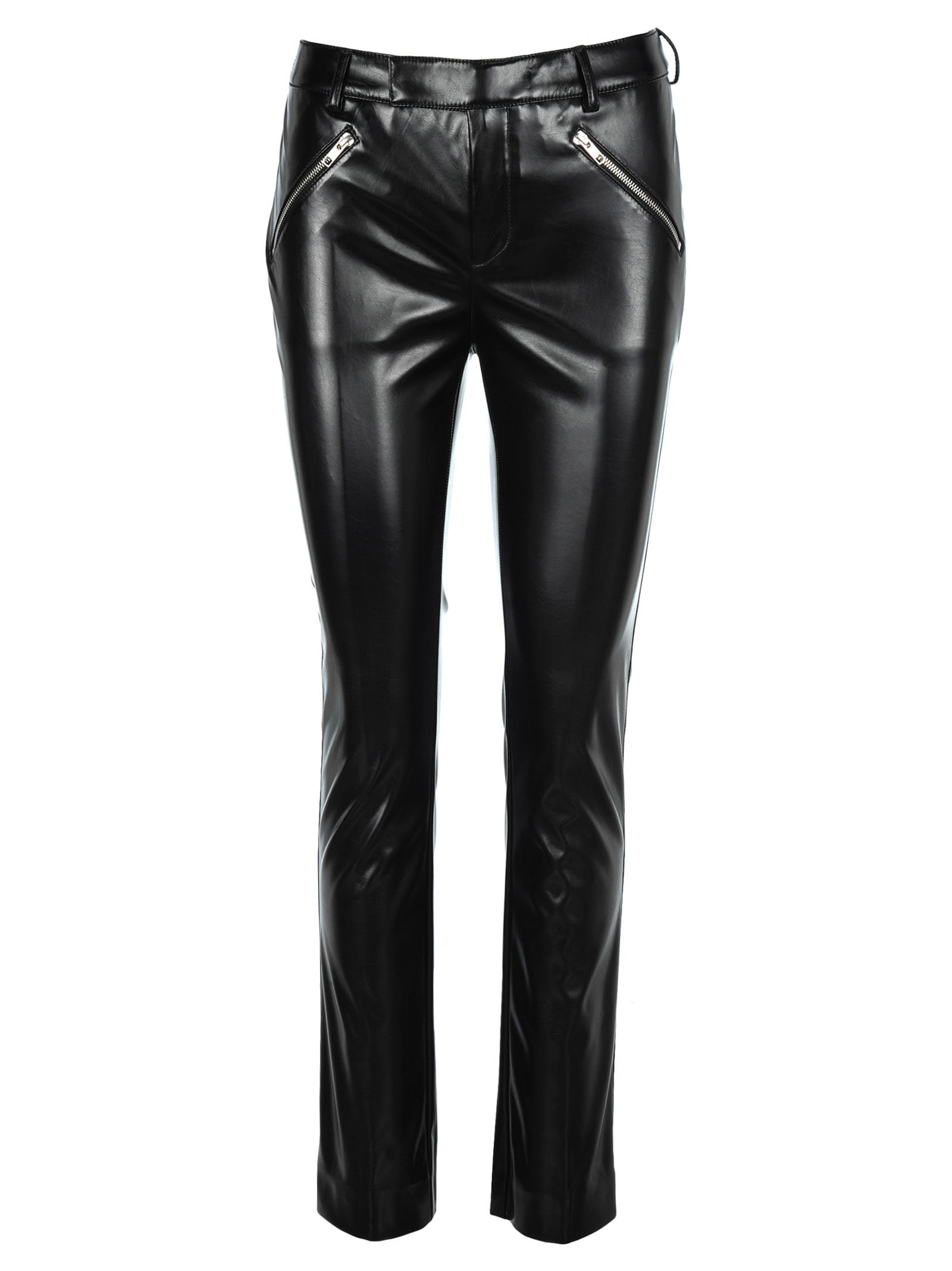 Philosophy Faux Leather Straight Leg Trousers