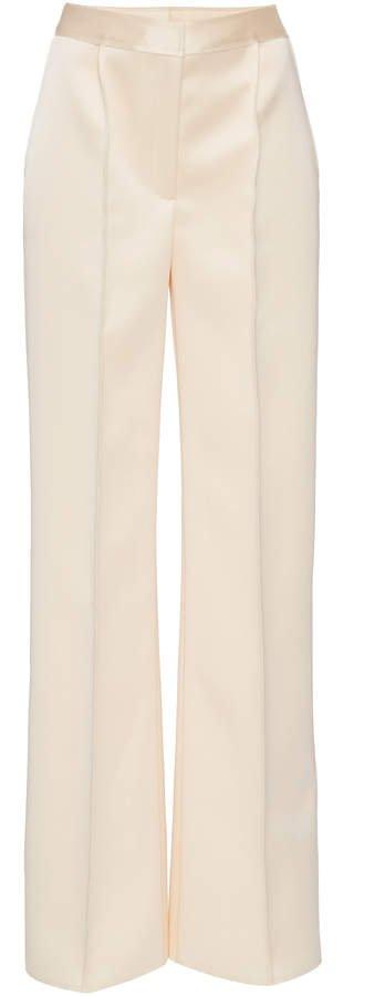 Carolina Herrera Wide-Leg Satin Pants Size: 0