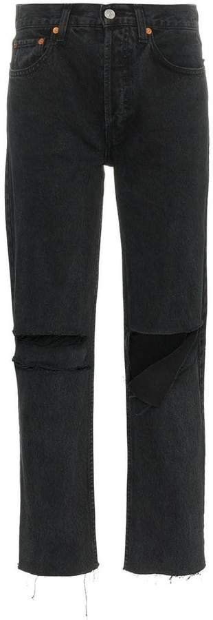 High Rise Pipe Jeans