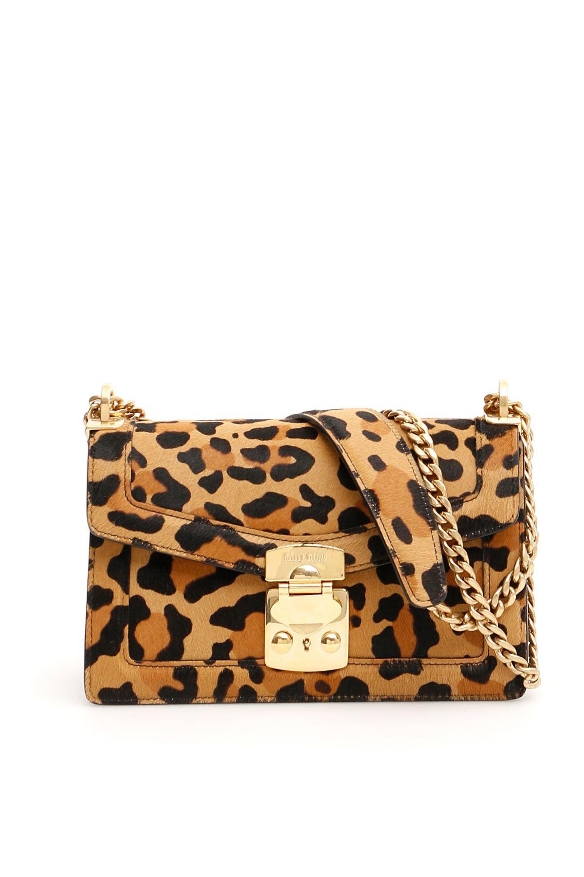 Miu Miu Leopard-printed Miu Confidential Bag