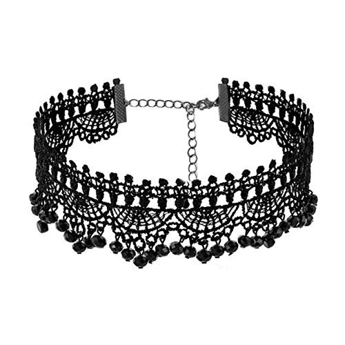 Amazon.com: Black Lace Necklace - Gothic Lolita Pendant Choker Clothing Accessories for Wedding Birthday Hallowen Christmas (Black3): Jewelry