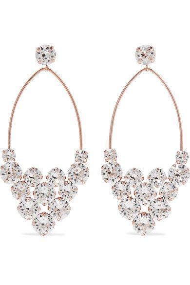 Isabel Marant | Rose gold-tone crystal earrings | NET-A-PORTER.COM