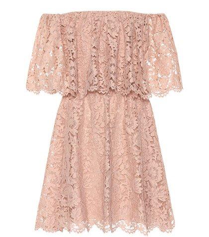 Floral lace minidress
