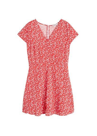 Violeta BY MANGO Floral wrap dress