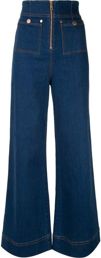 Bluesy wide-leg jeans