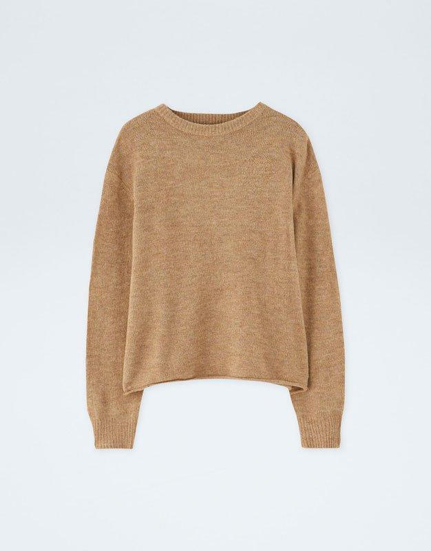 Camel Jersey Sweater