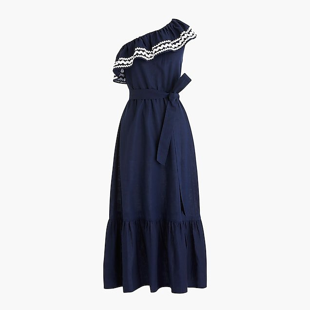 Ruffle tie-waist dress