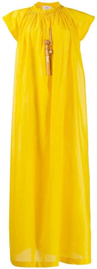 short-sleeved maxi dress