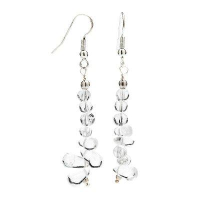 Crystal Clear Quartz Earrings | Mystic Self LLC