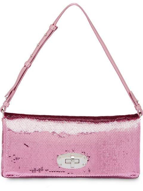 Miu Miu Miu Crystal Sequin Shoulder Bag - Farfetch
