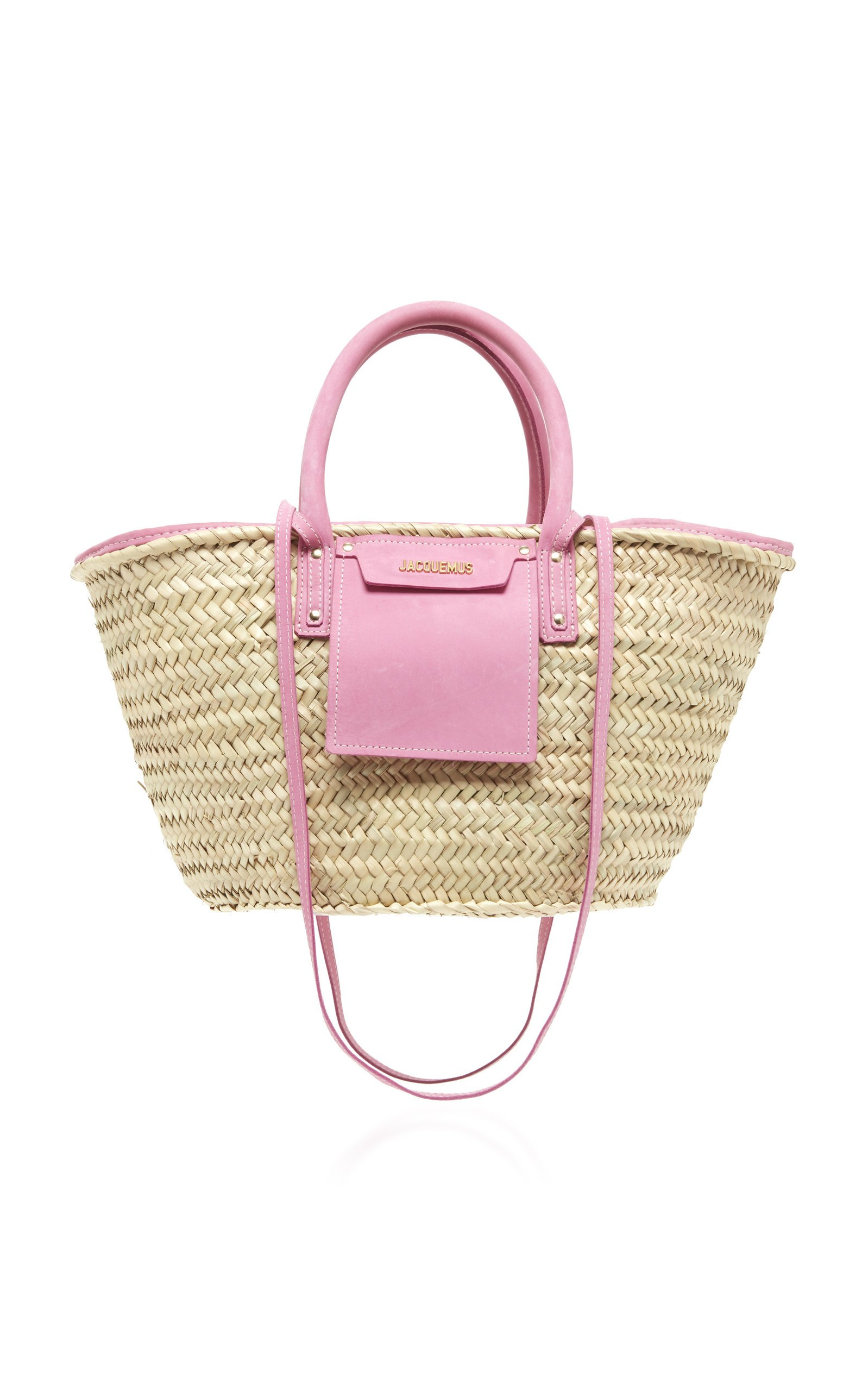 Le Panier Soleil Suede-Trimmed Straw Tote by Jacquemus   Moda Operandi
