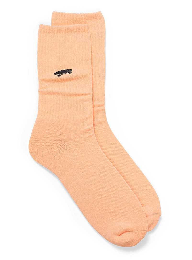 Pastel Orange Skateboard Socks