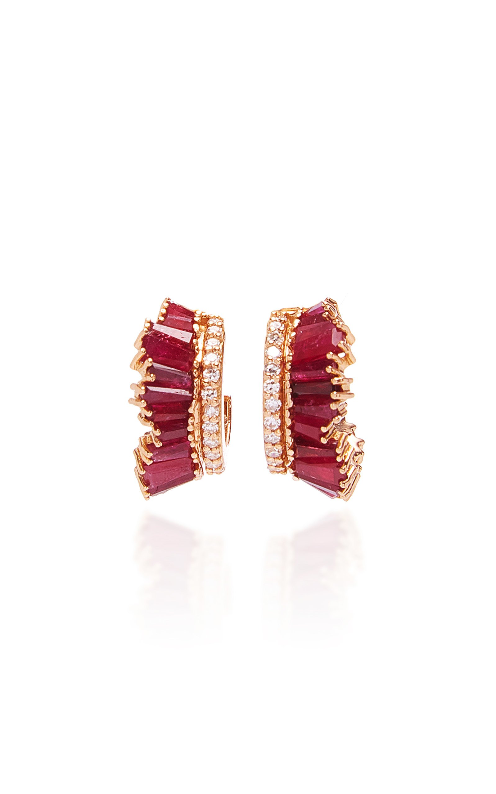 Nak Armstrong Petite Single Ruched Hoops