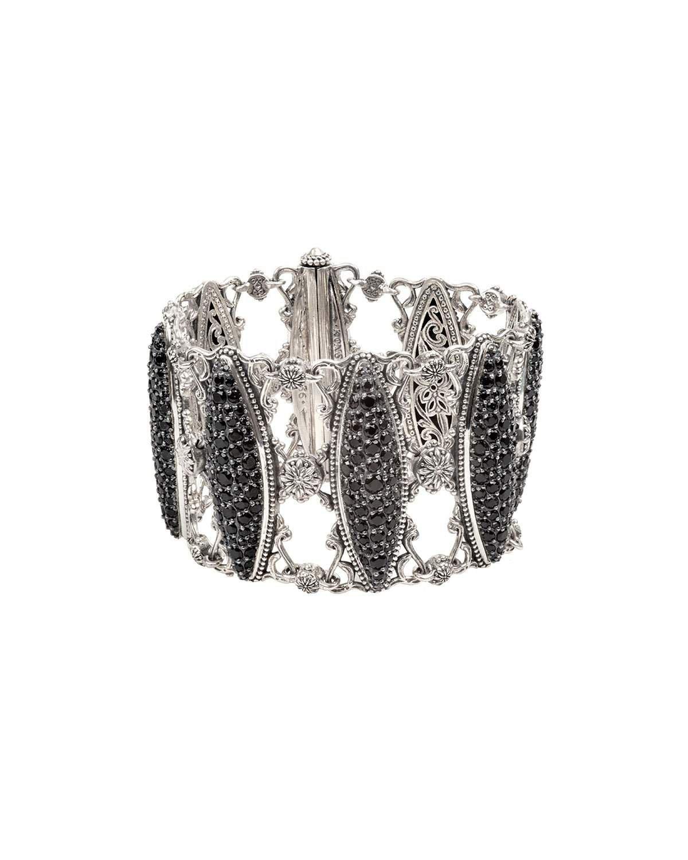 Konstantino Black Spinel Marquise Bracelet