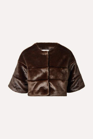 A Perdifiato A PERDIFIATO - The Mini Faux Fur Cape - Brown