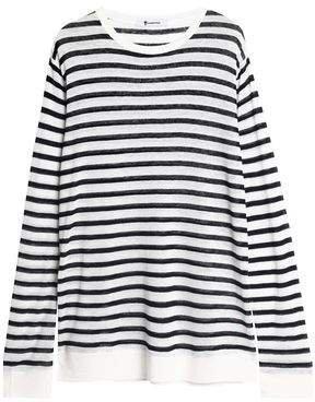 Striped Slub Jersey Top