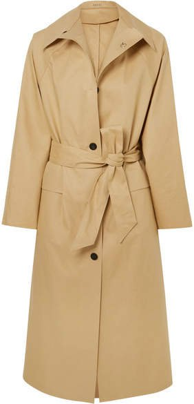Kassl Editions - Belted Cotton-blend Canvas Trench Coat