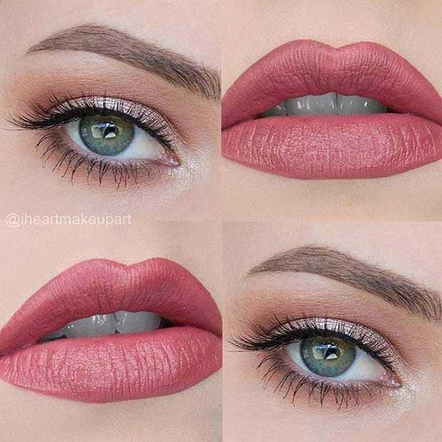 simple eye and lip makeup looks - Google Search