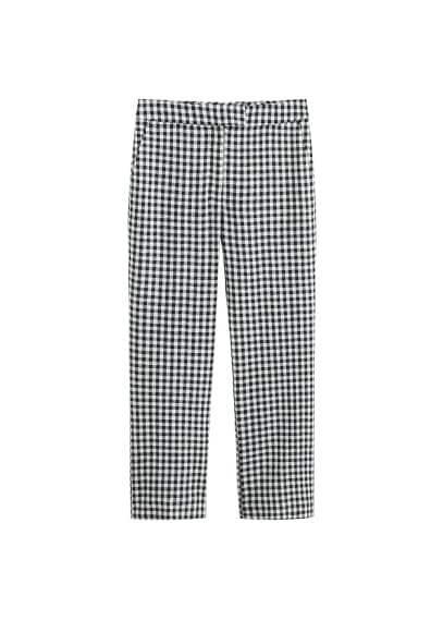 MANGO Gingham check pattern trousers